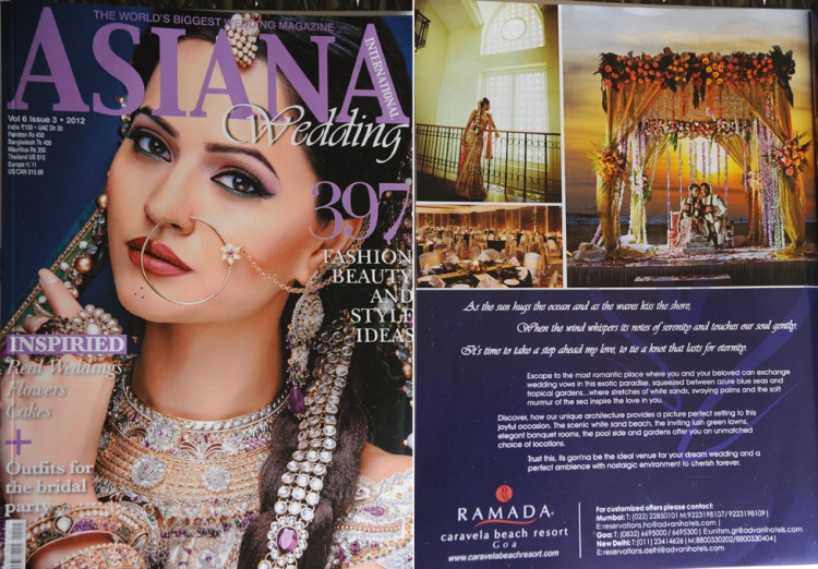 Asiana Magazine, Asiana Mag Vol 6 Issue 3 2012, Ramada Resort Goa, Shanelle & Jarad Goan wedding, South African Indian Destination Wedding, Bodhi Vision Photography, Indian Wedding Photographer Durban