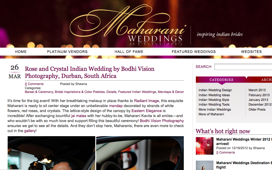 Bodhi Vision Photography feature Maharani Weddings, Gujrathi Wedding Photography, Colourful Durban Indian Wedding